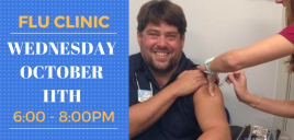 Flu Clinic on Wednesday October 11th!